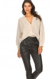ba&sh |  Knitted cardigan Beliz | beige  | Picture 4