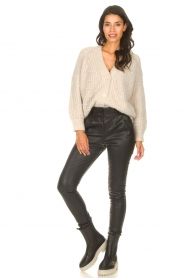 ba&sh |  Knitted cardigan Beliz | beige  | Picture 3