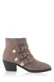 Sofie Schnoor |  Suede buckle boots with studs Live | grey  | Picture 1