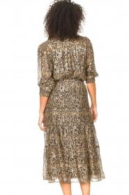 ba&sh |  Lurex midi skirt with print Gellio | green  | Picture 7