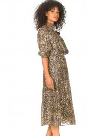 ba&sh |  Lurex midi skirt with print Gellio | green  | Picture 6
