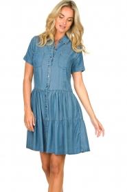 Silvian Heach |  Dress Seltrix | blue  | Picture 6