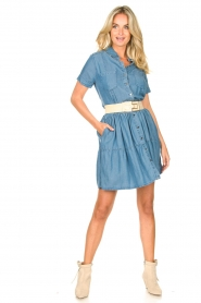 Silvian Heach |  Dress Seltrix | blue  | Picture 3