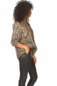 ba&sh    Lurex blouse with print Gallas   green    Picture 6