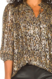ba&sh    Lurex blouse with print Gallas   green    Picture 8