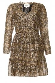 ba&sh |  Lurex dress with print Glen | green  | Picture 1