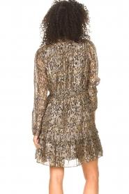 ba&sh |  Lurex dress with print Glen | green  | Picture 6