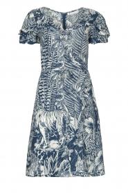 Silvian Heach |  Ruffles dress with wrap detail Albus | blue  | Picture 1