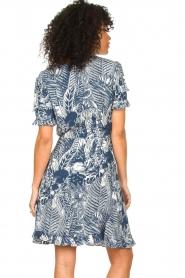 Silvian Heach |  Ruffles dress with wrap detail Albus | blue  | Picture 6