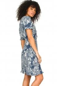 Silvian Heach |  Ruffles dress with wrap detail Albus | blue  | Picture 5