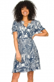 Silvian Heach |  Ruffles dress with wrap detail Albus | blue  | Picture 2