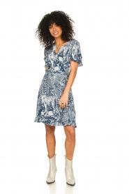 Silvian Heach |  Ruffles dress with wrap detail Albus | blue  | Picture 3