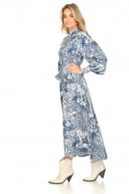 Silvian Heach |  Maxi dress with leafs print Ludo | blue  | Picture 5