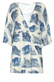 Silvian Heach |  Dress with batwing sleeves Balwada | blue  | Picture 1
