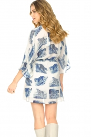 Silvian Heach |  Dress with batwing sleeves Balwada | blue  | Picture 6