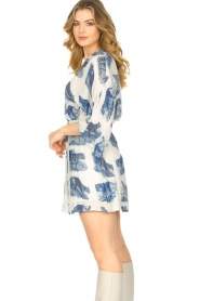 Silvian Heach |  Dress with batwing sleeves Balwada | blue  | Picture 5