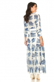 Silvian Heach |  Maxi dress with print Peakes | blue  | Picture 6