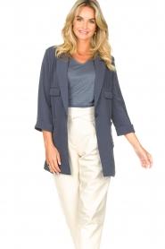 Silvian Heach |  Blazer with three quarter sleeves Mirym | blue  | Picture 4