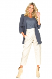 Silvian Heach |  Blazer with three quarter sleeves Mirym | blue  | Picture 3