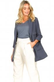 Silvian Heach |  Blazer with three quarter sleeves Mirym | blue  | Picture 5