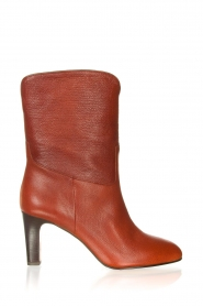 ba&sh |  Leather boots Cidie | red  | Picture 1