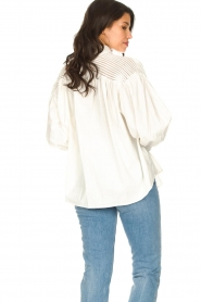 Silvian Heach |  Cotton oversized blouse with puff sleeves Wango | white  | Picture 7