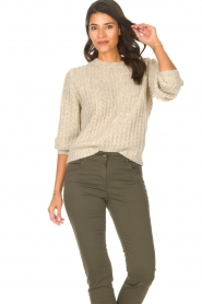 Set |  Knitted sweater Bella | natural   | Picture 4
