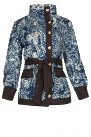 Silvian Heach |  Kimono jacket with golden marine buttons Gulch | blue  | Picture 1