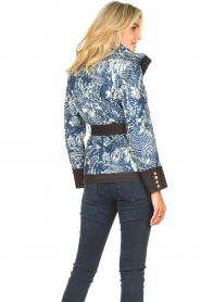 Silvian Heach |  Kimono jacket with golden marine buttons Gulch | blue  | Picture 7