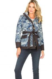 Silvian Heach |  Kimono jacket with golden marine buttons Gulch | blue  | Picture 4