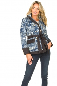 Silvian Heach |  Kimono jacket with golden marine buttons Gulch | blue  | Picture 5
