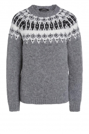 Set |  Knitted sweater with details Jay | grey  | Picture 1