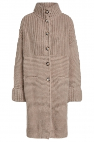 Set |  Long knitted cardigan Bloom | taupe  | Picture 1