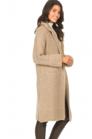Set |  Long knitted cardigan Bloom | taupe  | Picture 6