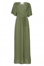 Silvian Heach |  Maxi dress with waist belt Remus | green  | Picture 1