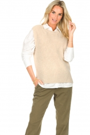 Set    Sleeveless sweater Deya   beige     Picture 2