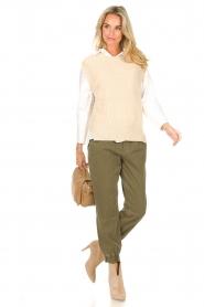 Set |  Sleeveless sweater Deya | beige   | Picture 3