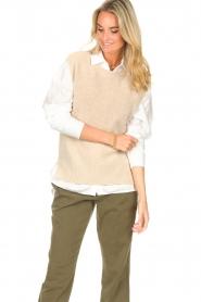 Set |  Sleeveless sweater Deya | beige   | Picture 5