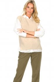 Set |  Sleeveless sweater Deya | beige   | Picture 4