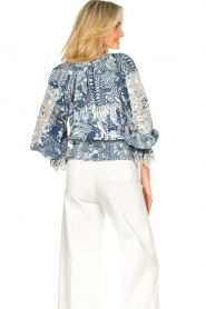 Silvian Heach |  Top with broderie Millicent | blue  | Picture 7
