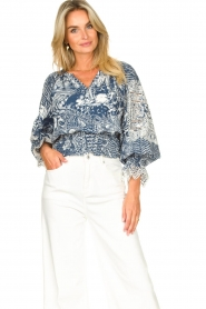 Silvian Heach    Top with broderie Millicent   blue    Picture 4
