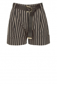 Silvian Heach |  Lurex striped short Susani | black  | Picture 1