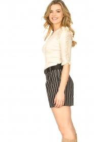 Silvian Heach |  Lurex striped short Susani | black  | Picture 6