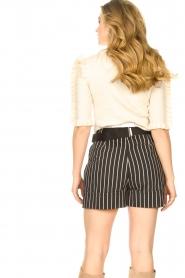 Silvian Heach |  Lurex striped short Susani | black  | Picture 7