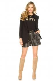 Silvian Heach |  Lurex striped short Susani | black  | Picture 4