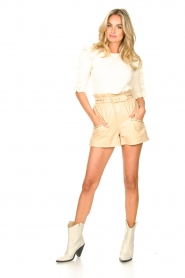 Silvian Heach |  Sweater with ruffles Alastor | beige  | Picture 2