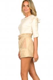 Silvian Heach |  Sweater with ruffles Alastor | beige  | Picture 5