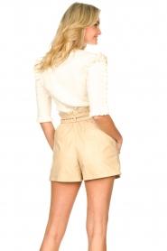 Silvian Heach |  Sweater with ruffles Alastor | beige  | Picture 6