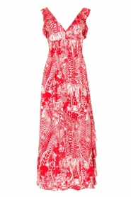 Silvian Heach |  Maxi dress with print Sirius | red  | Picture 1