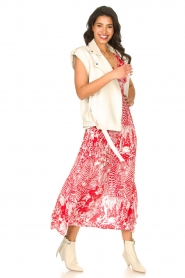 Silvian Heach |  Maxi dress with print Sirius | red  | Picture 2